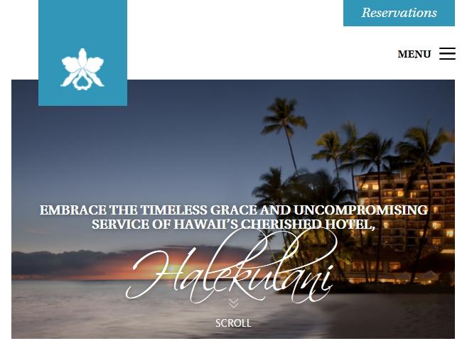 ハワイの高級ホテル「ハレクラニ」、ウェブサイトが最優秀賞を獲得 ―2014年ウェブアワード