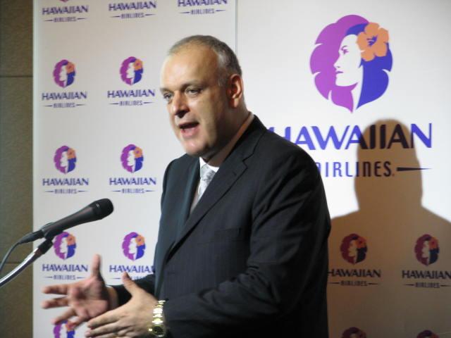 ハワイアン航空、日本路線の拡充に積極姿勢、コナ線は「長期的なチャンスをうかがいたい」