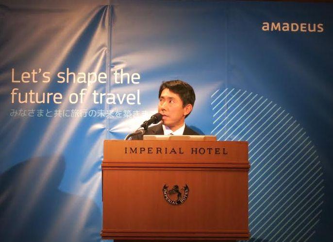 Amadeus Travel Intelligenceを発表する アマデウス東日本営業部部長の中山竜太氏