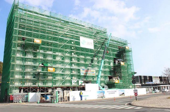 被災地・釜石では今春、JR東日本系のホテル フォルクローロ三陸釜石が開業の予定(2014年11月20日筆者撮影)