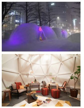 個人宅宿泊サービスのエアビーアンドビー(Airbnb)、本物の「かまくら」に泊まれるキャンペーン、さっぽろ雪まつりで