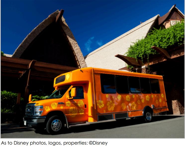 ディズニー、ハワイのリゾート施設でシャトルバス運行を増強、契約旅行会社の利用で乗り放題も