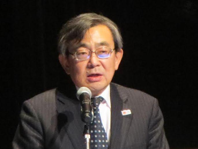 日本の観光の現状を伝える久保観光庁長官。訪日国籍のバランスのよさを強調した