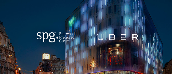 スターウッド、会員向けプログラムでウーバー(Uber)と提携、会員ポイント加算で