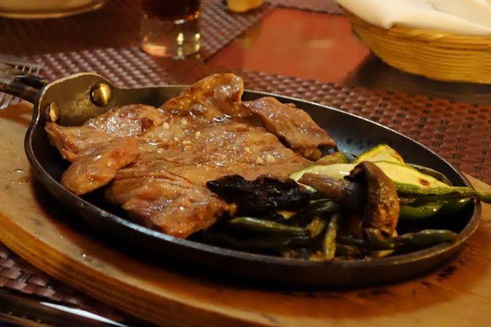 メキシコで人気のハラミのステーキ