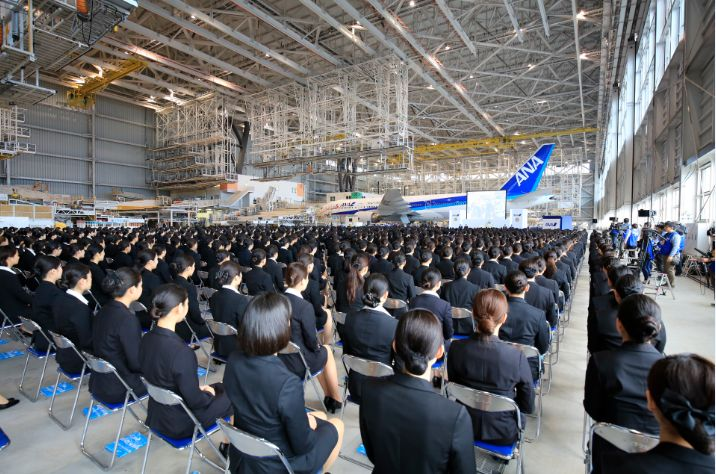 ANAグループ入社式2015、片野坂CEO「安全こそすべて」、31社1187名の新入社員が参加