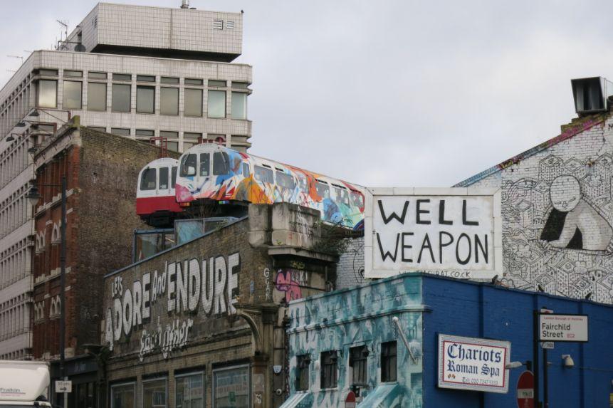 ロンドンでいま注目のショーディッチ。airbnbロンドンオフィスもここにある。