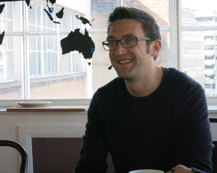 airbnbイギリス・アイルンド担当ジェネラル・マネージャーのジェームス・マクレアー氏。