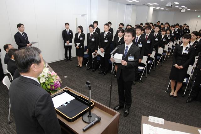 日本旅行入社式2015、丸尾代表「創業者のチャレンジ精神を一人ひとりがDNA化」、入社は120名