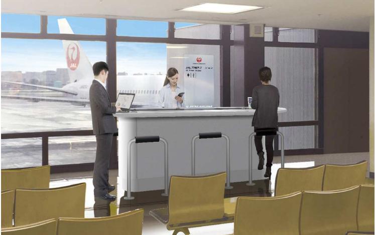 JAL、伊丹空港で無料のスマホ充電サービス開始、機内での「電池切れ」不安解消に向け