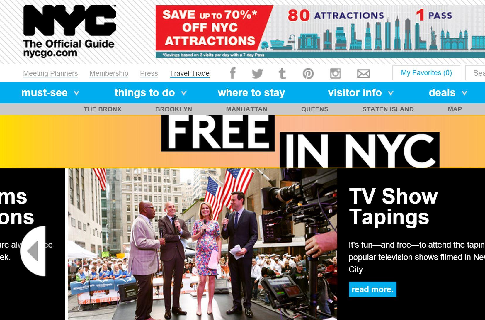 米ニューヨーク市、夏の旅行で無料・お得な観光情報でまとめサイトを開設