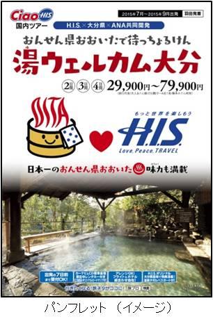 H.I.S.と大分県がツアーを共同開発、3000円クーポンをもれなく提供
