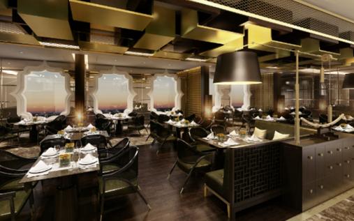 間もなく初クルーズの「史上最高の豪華客船」、新レストラン内装を公開【動画】