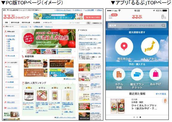 JTB、「るるぶ」の通販サイトと旅行予約でID連携、アプリからの注文も