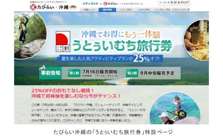 """沖縄のアクティビティに""""ふるさと割""""を適用、25%割引の旅行券が利用可能に"""
