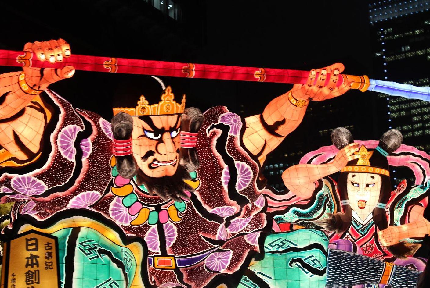 JAPAN NIGHT 2015では、青森ねぶたが東京の夜空を舞った。青森県はツーリズムEXPOジャパン2015のプレミアム・デスティネーション・パートナー