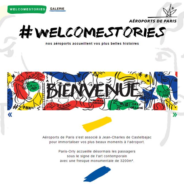 【動画】パリ・オルリー空港に巨大絵画、有名アーチストが空港10ストーリーを表現