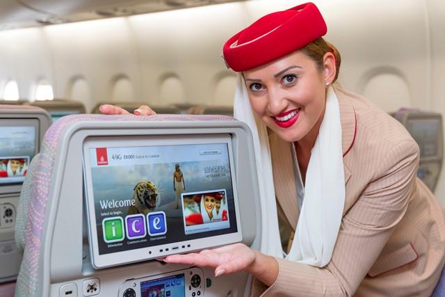 エミレーツ航空、機内エンタメに次世代システム導入、モニターは業界最大に