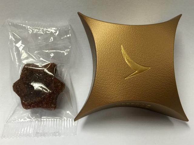キャセイパシフィック航空のクリスマスクッキー(エコノミークラス用)