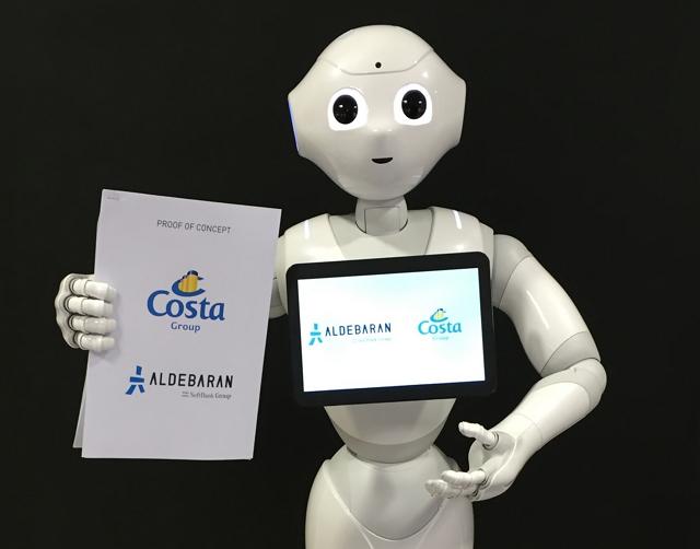 クルーズ船に人型ロボット「ペッパー」導入、堪能な外国語で乗客サポートなど ―コスタクルーズ