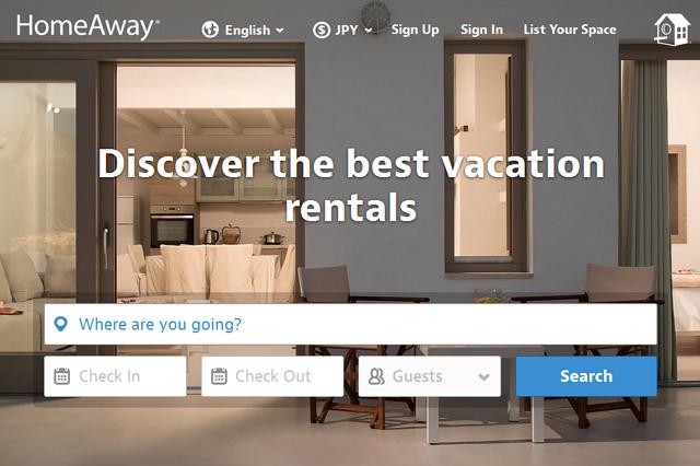 米エクスペディア、個人宅レンタル「ホームアウェイ」買収完了、宿泊販売は別サイトで