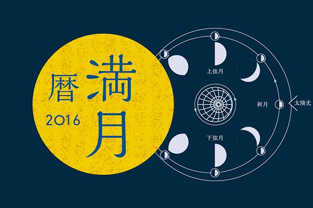 月の満ち欠けカレンダー2016、トリップアドバイザーがインフォグラフィックで提供