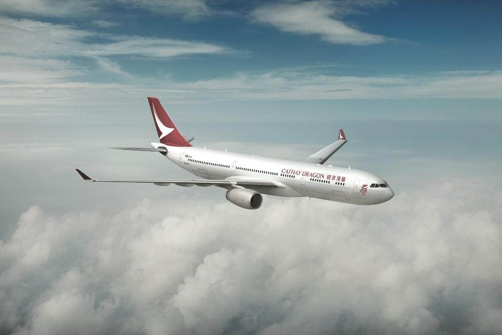 発表されたキャセイドラゴン航空の塗装機