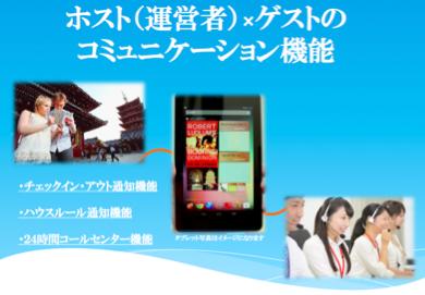 民泊の運用をタブレットで支援する新ツール、Wi-Fi設置を無償で提供