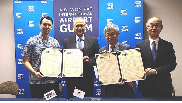 グアム空港と仙台空港、姉妹空港提携を更新、交友関係を充実へ