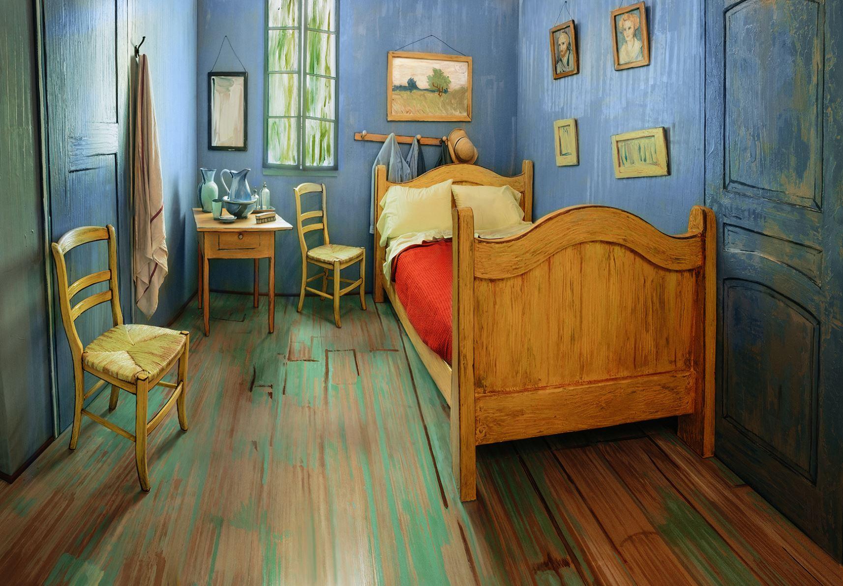 民泊Airbnb、米シカゴで「ゴッホの寝室」を再現した部屋を1泊10ドルで提供
