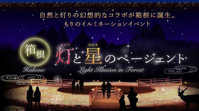 箱根で新たなイルミネーションイベント、10万個のLEDやキャンドルで自然の森を演出
