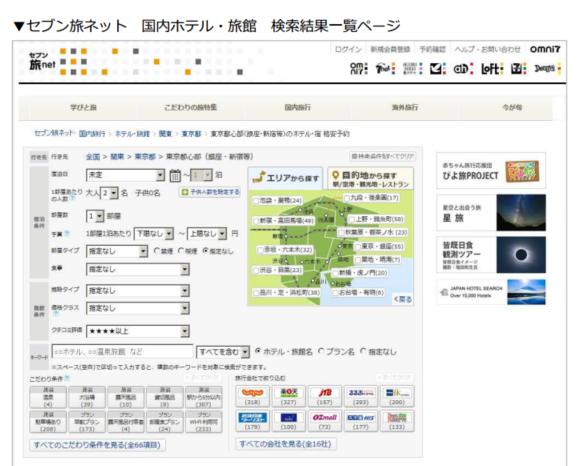 セブン旅ネット、「トラベルコちゃん」の国内宿泊比較サービスを導入