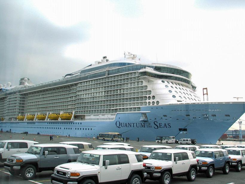 最新鋭の大型客船クアンタムが横浜に初入港、中国人旅行者を中心に4000人規模のクルーズ客