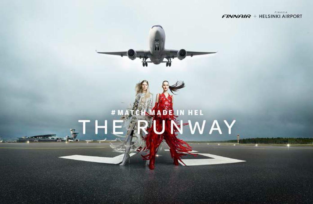 フィンランド航空、ヘルシンキ空港の滑走路で1日限りのファッションイベント【動画】