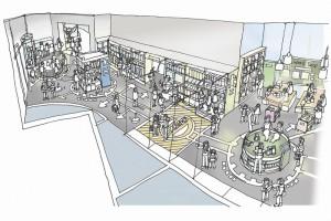 「ロボットの王国」内の「ロボットの館」。体験エリアやショップなど7つのゾーンがある。ハウステンボス提供