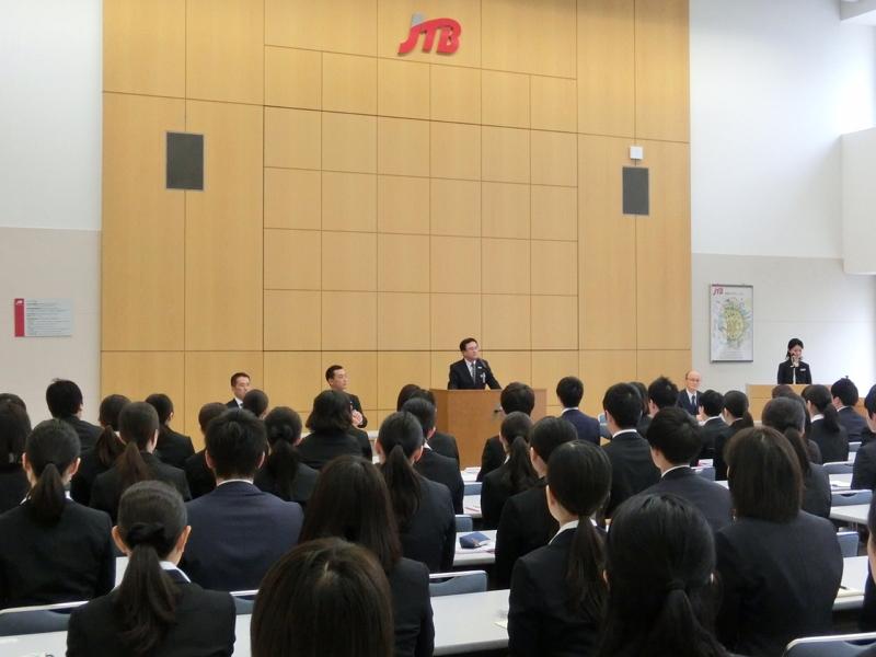JTB入社式2016、グループ新入社員は730名、首都圏・池田浩代表「店頭はJTBの顔である」