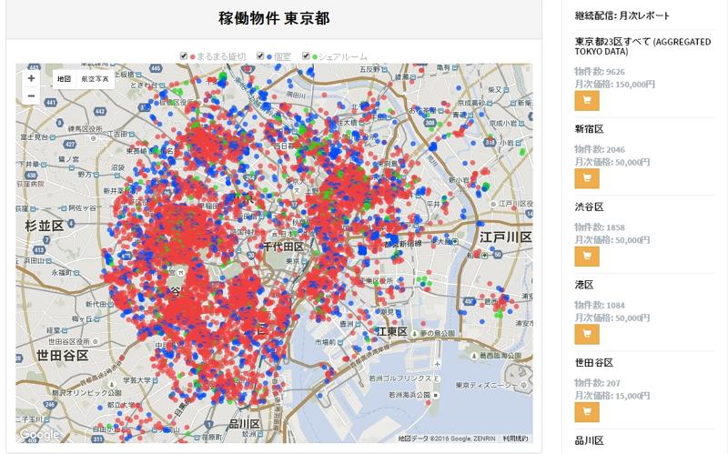 民泊物件のデータ分析サービスが日本上陸、事業参入者や宿泊施設向けにレポート提供などで