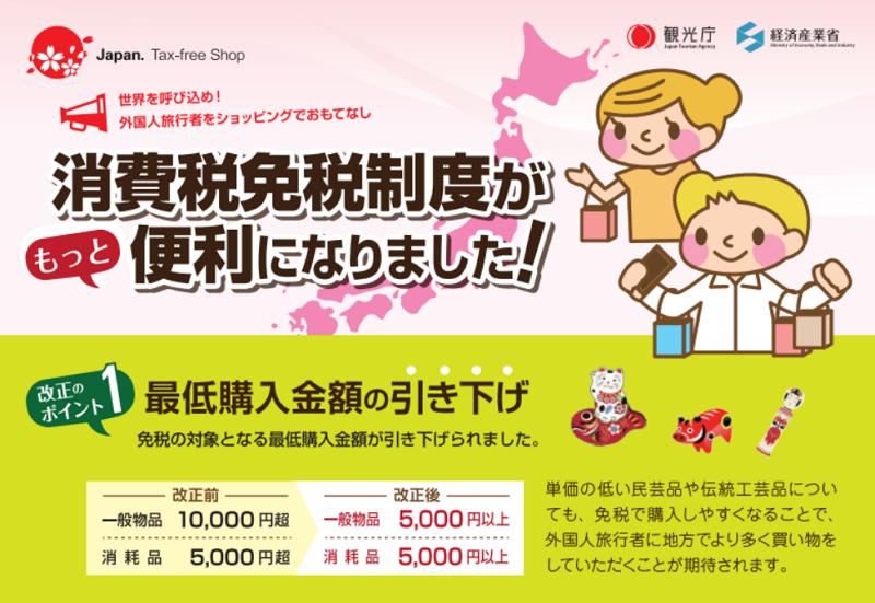 外国人旅行者向け免税対象引下げを発表、5月から最低額5000円以上に ―観光庁