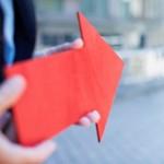 Orientierung mit rotem Pfeil