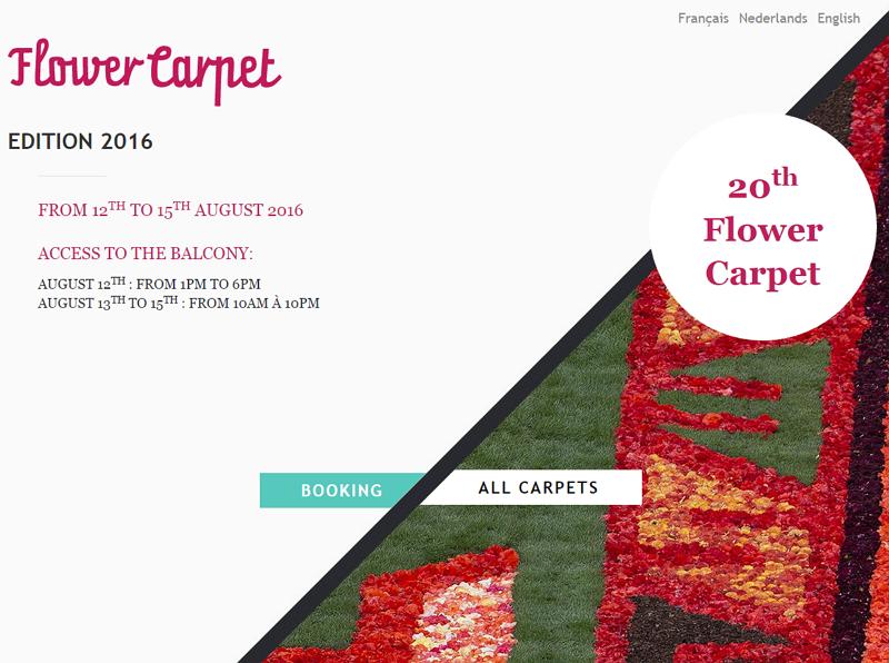 ベルギー・ブリュッセルのフラワー・カーペット、今年は日本風のデザインに決定、友好150周年記念で