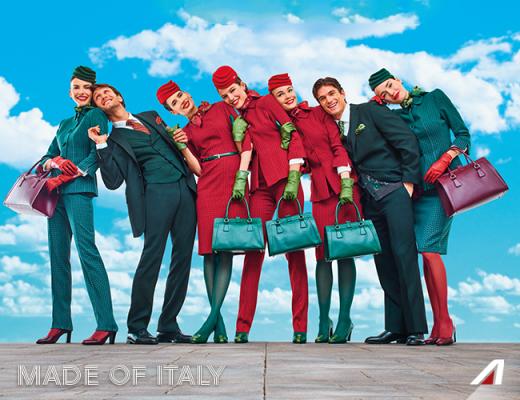 アリタリア航空、新ユニフォームを発表、「赤と緑」でイタリアらしさ表現  【動画】