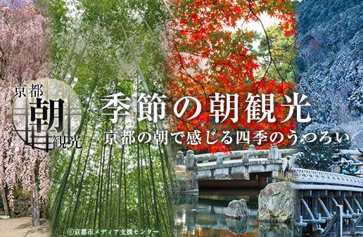 京都市、季節ごとの朝観光情報を発信、ぐるなびとの連携で