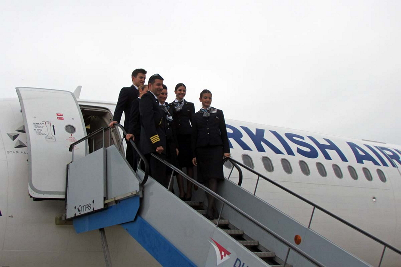 イスタンブールからドゥブロヴニクに到着したターキッシュエアラインズの439便。エアバスA321での運航だ