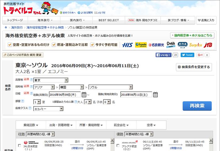 トラベルコちゃん、JTBの海外「航空券+ホテル」ツアーを掲載開始、比較対象を拡充