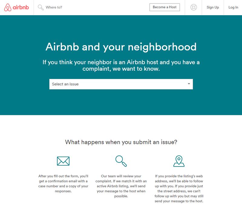 民泊サービスAirbnb、近隣住民からの苦情窓口を設置、日本など各国版で