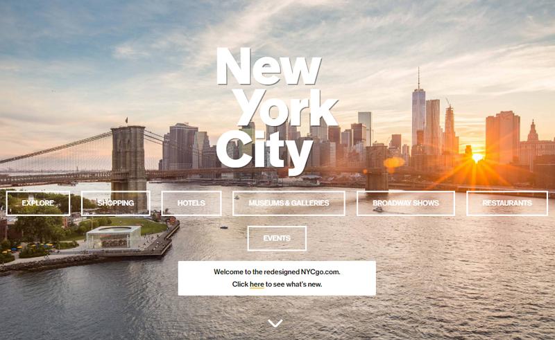 ニューヨーク市観光局、公式サイト刷新、宿泊・体験・チケット予約を拡充、OTAとの連携強化へ