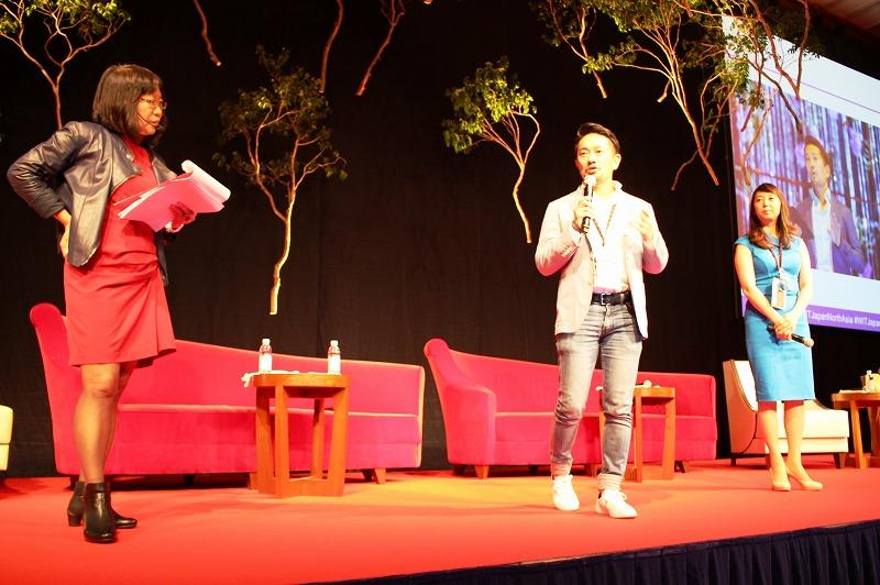 右から)主催者のイェオ・シュウ・フーン氏、日本実行委員の柴田啓氏(ベンチャーリパブリックCEO)、浅生亜也氏(アゴーラ・ホスピタリティーズCEO)