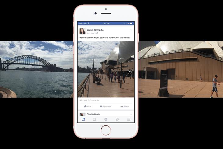 フェイスブックが360度全方位の写真シェアを開始、対応端末でVR環境も可能
