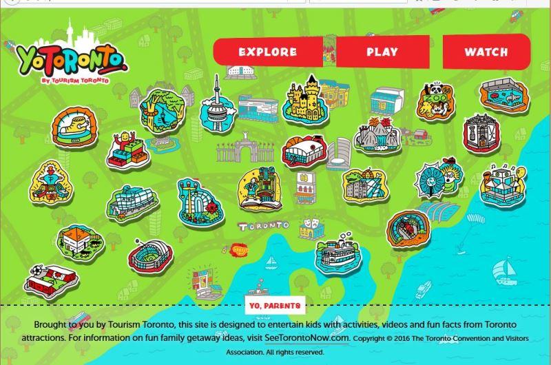 子ども向け観光サイトが登場、家族旅行の計画に子どもが参加できるデザインで -カナダ・トロント観光局