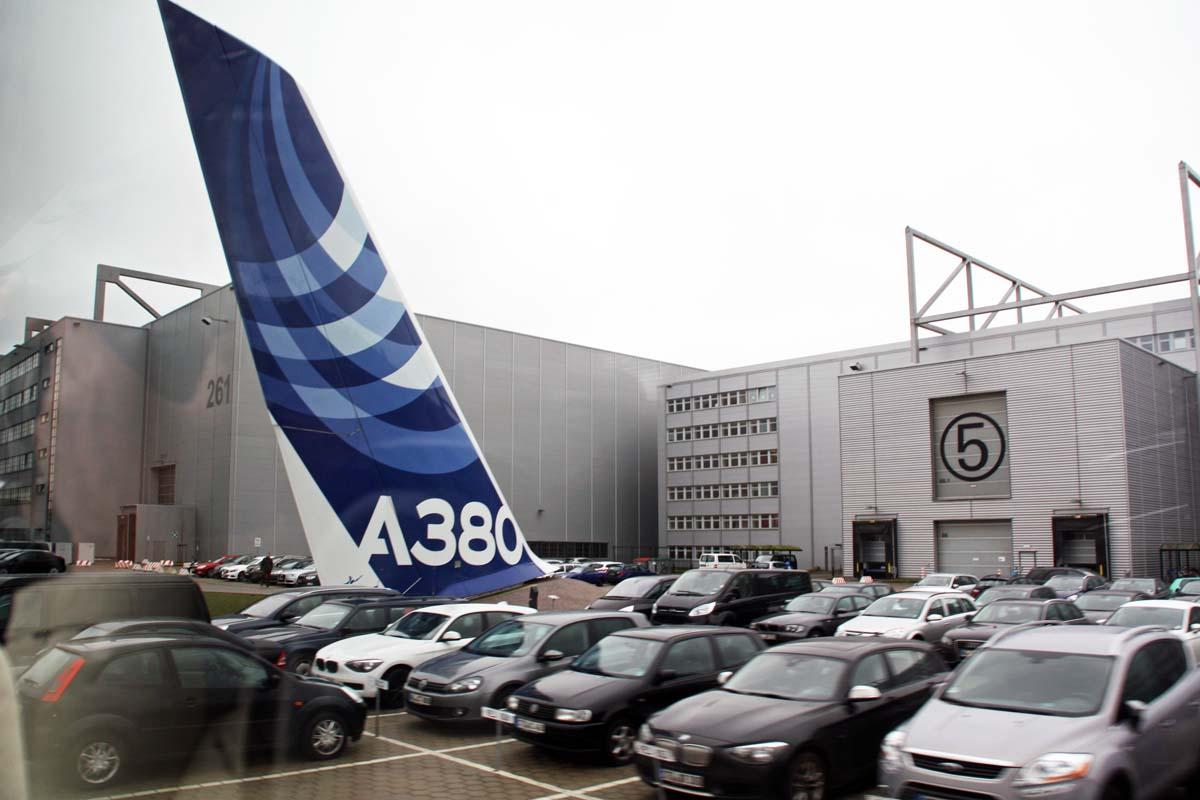A380製造ラインがあるエアバスのドイツ・ハンブルク工場